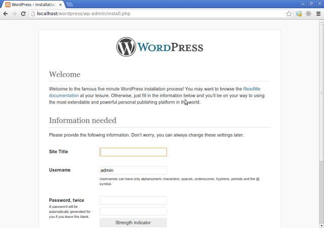 Menginstall wordpress di localhost Windows